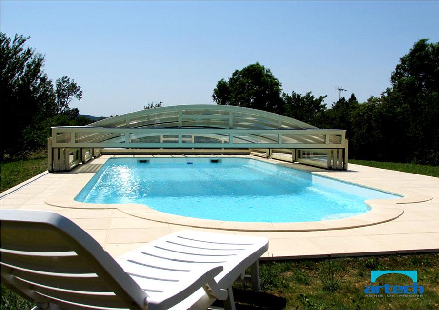 Abris artech fabricant abris de piscine toulouse midi for Abri piscine relevable