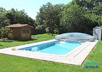 Guidage abri piscine Artech