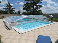 positioner un abri de piscine