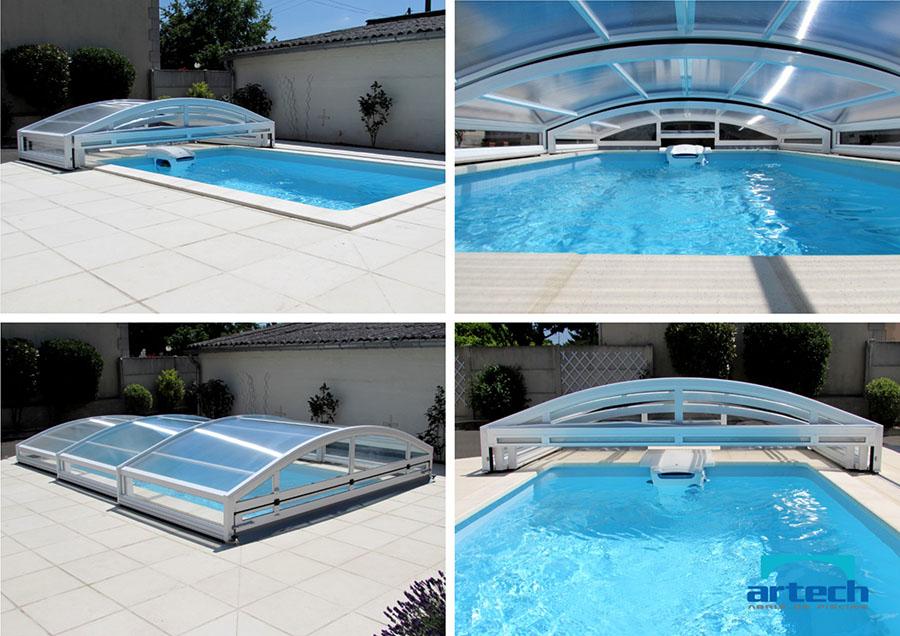 La pose duun abri de piscine tape par tape dcouverte with abri piscine bois hors sol - Couverture piscine tendue perpignan ...