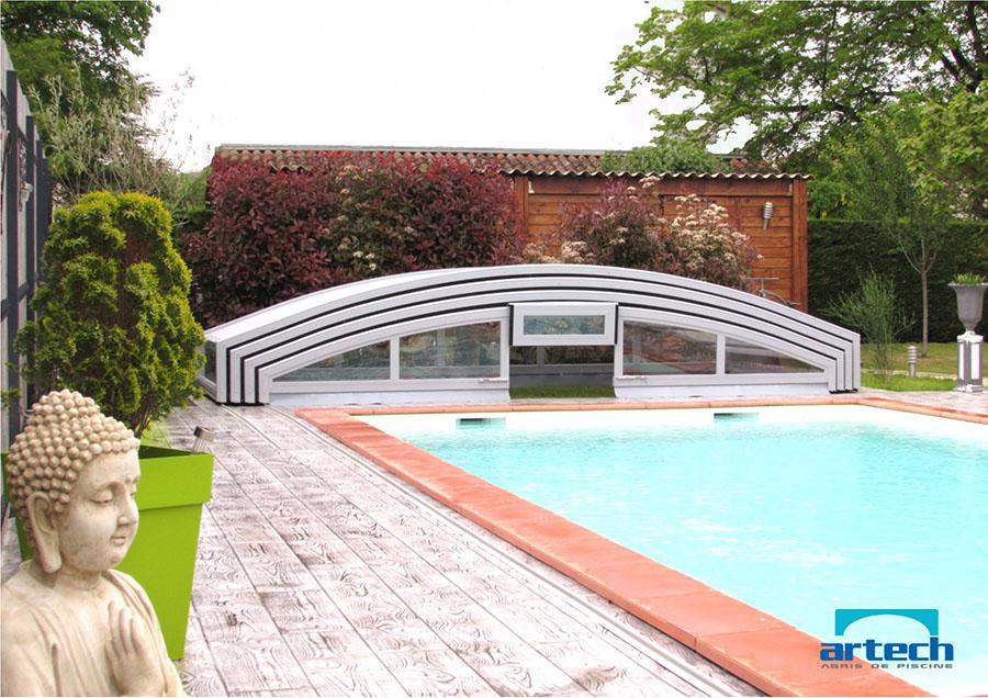 Abri piscine discount free abri piscine plat pas cher for Prix abri piscine plat