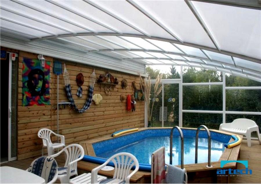 Abris artech fabricant abri piscine toulouse midi for Abri de piscine mural