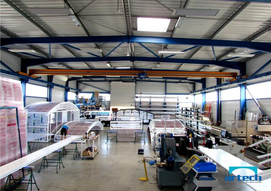Abris artech fabricant abris de piscine toulouse midi for Abri piscine usine